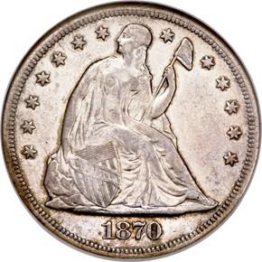 1870 S $1 MS obverse