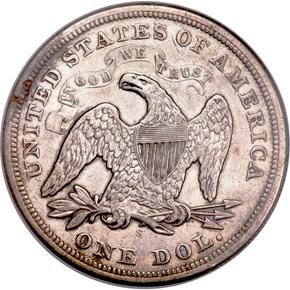 1870 S $1 MS reverse