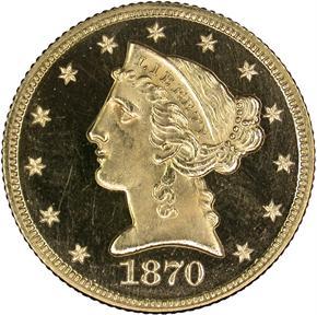 1870 $5 PF obverse