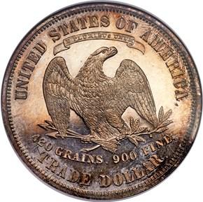 (1876) J-1475a T$1 PF reverse