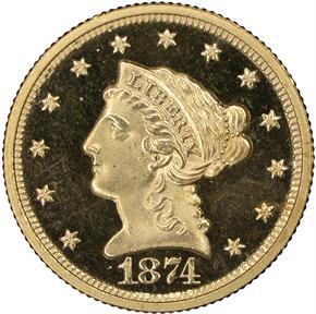 1874 $2.5 PF obverse