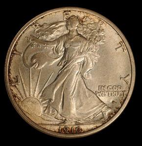 1916 S 50C MS obverse