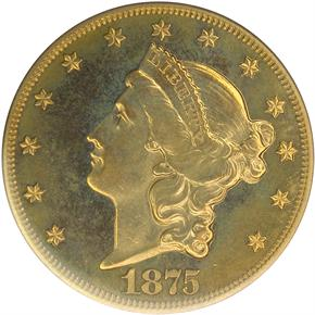 1875 $20 PF obverse