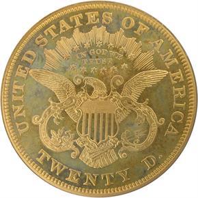 1875 $20 PF reverse