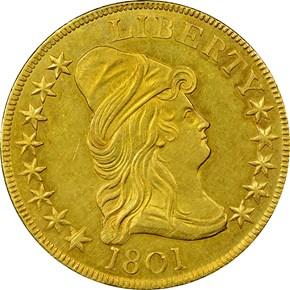 1801 $10 MS obverse