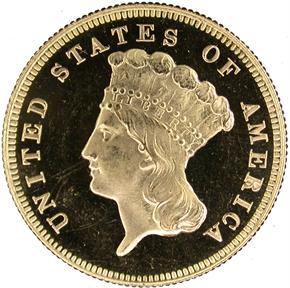 1878 $3 PF obverse