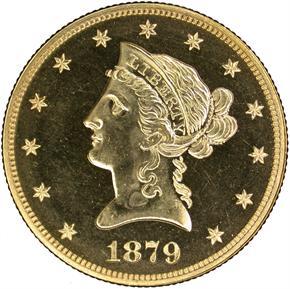 1879 $10 PF obverse