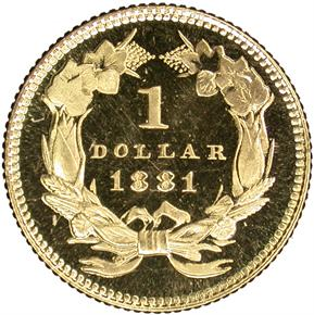 1881 G$1 PF reverse
