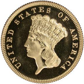 1881 $3 PF obverse