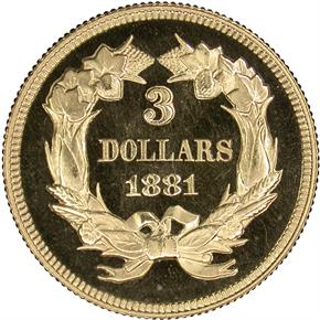 1881 $3 PF reverse
