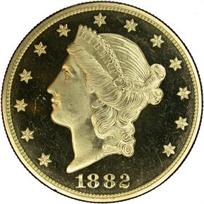 1882 $20 PF obverse