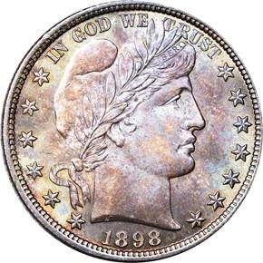 1898 50C MS obverse