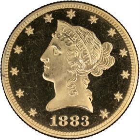 1883 $10 PF obverse