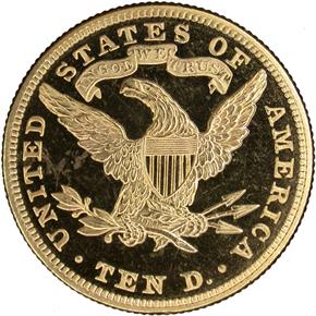 1883 $10 PF reverse