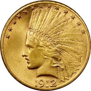 1912 S $10 MS obverse