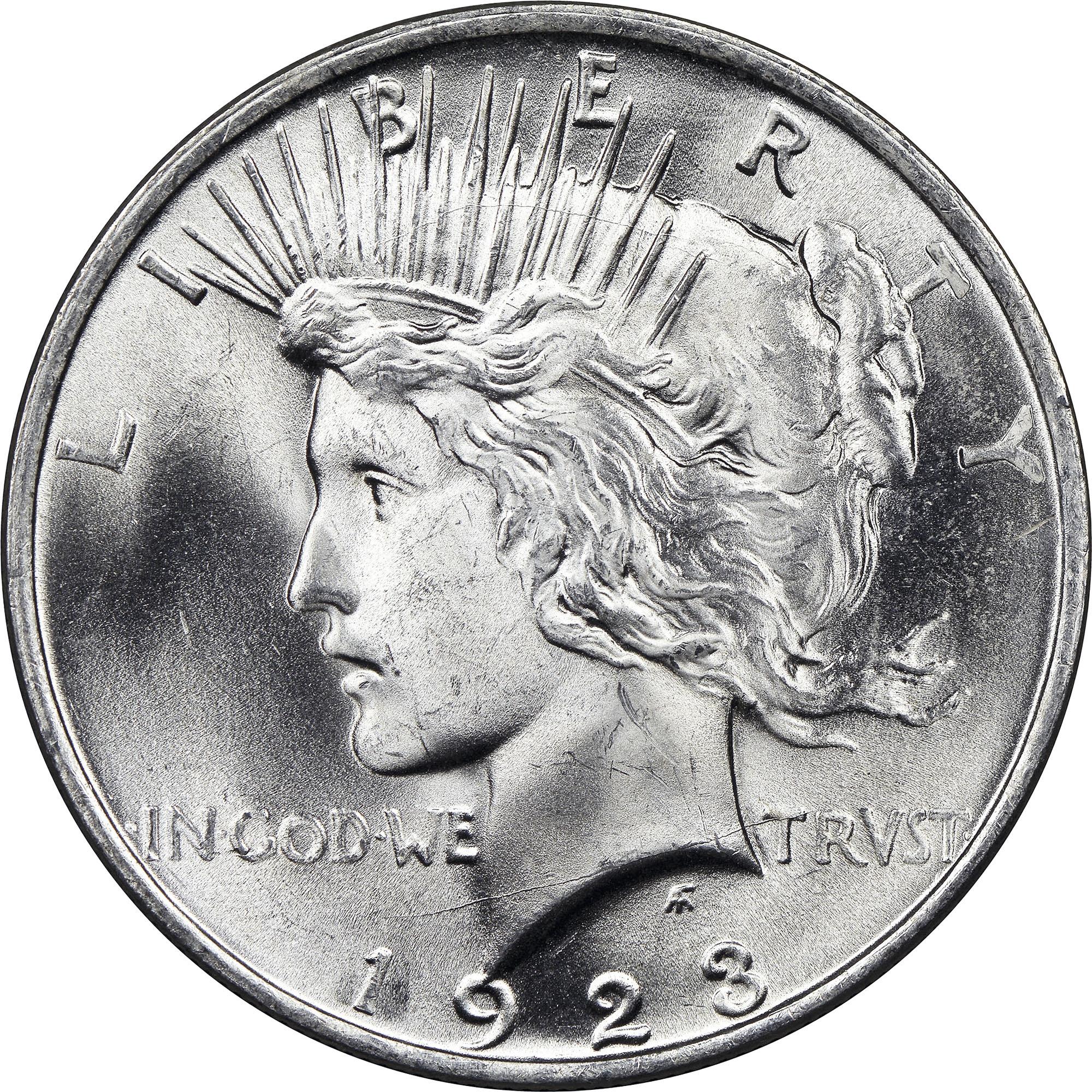 1923 $1 MS Peace Dollars