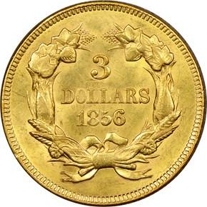 1856 $3 MS reverse