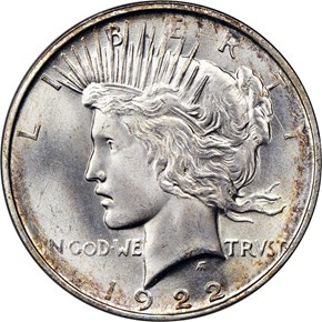 1922 D $1 MS obverse