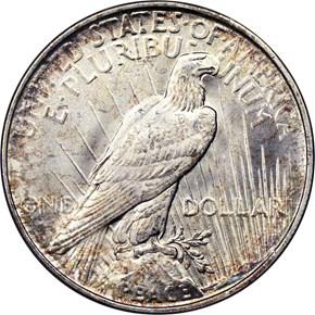 1922 D $1 MS reverse