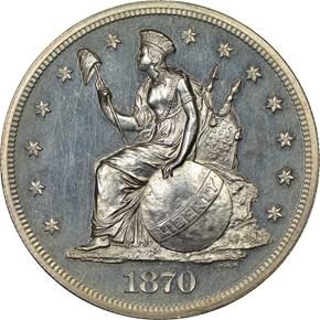1870 J-1014 S$1 PF obverse