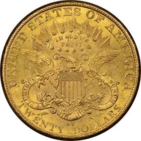 1892 CC $20 MS reverse