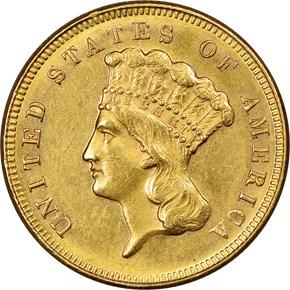 1871 $3 MS obverse