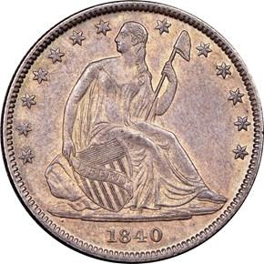 1840 (O) MED LETTERS 50C MS obverse