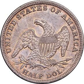 1840 (O) MED LETTERS 50C MS reverse