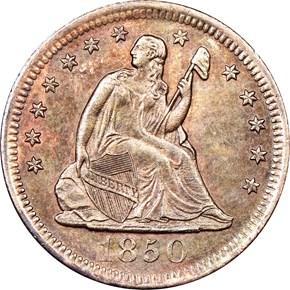 1850 O 25C MS obverse