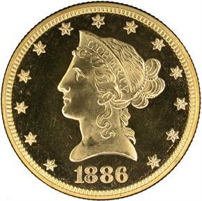 1886 $10 PF obverse