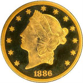 1886 $20 PF obverse