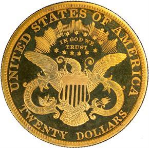 1886 $20 PF reverse