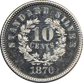 1870 J-861 10C PF reverse
