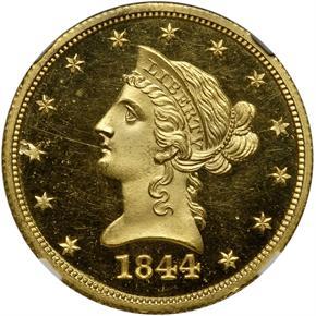 1844 O $10 PF obverse