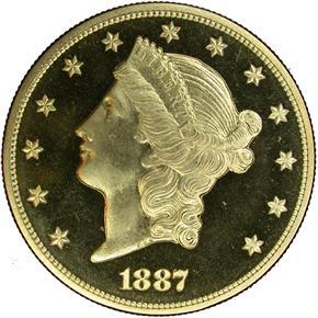 1887 $20 PF obverse