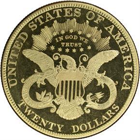 1887 $20 PF reverse