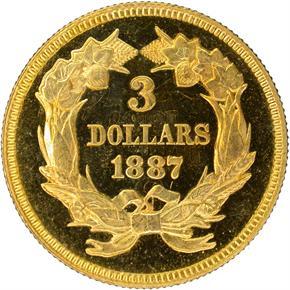 1887 $3 PF reverse