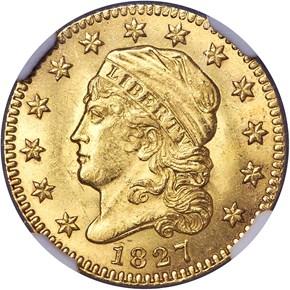 1827 BD-1 $2.5 MS obverse