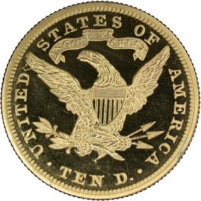 1890 $10 PF reverse
