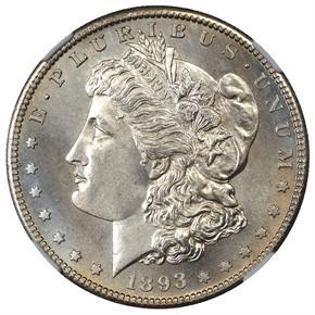 1893 S $1 MS obverse