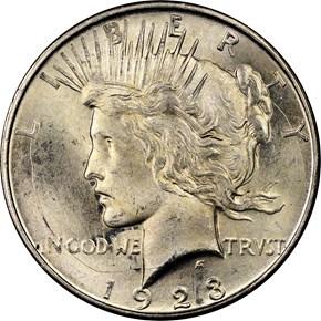 1923 D S$1 MS obverse