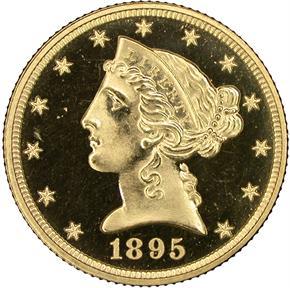 1895 $5 PF obverse