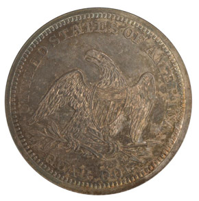 1840 DRAPERY 25C PF reverse