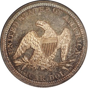 1855 ARROWS 25C PF reverse