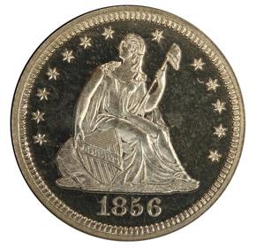 1856 25C PF obverse
