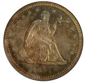 1857 25C PF obverse