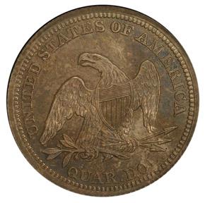 1857 25C PF reverse