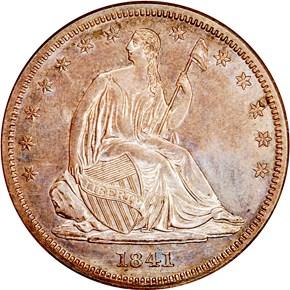 1841 50C PF obverse