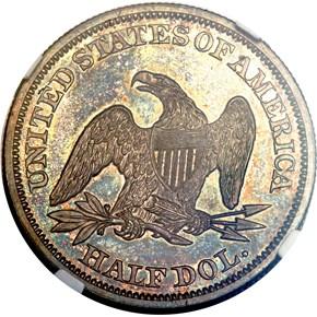 1846 MEDIUM DATE 50C PF reverse