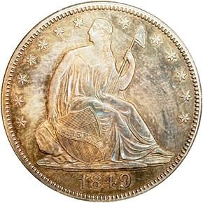 1849 50C PF obverse